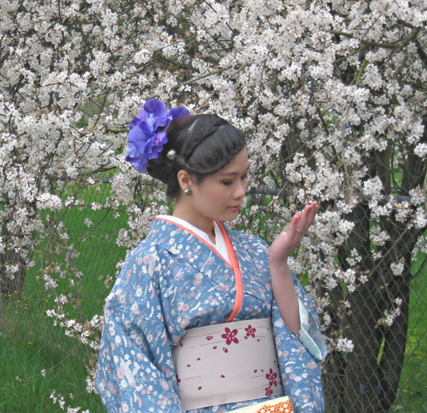 Spring Cherry Blossom Kimono Photoshoot